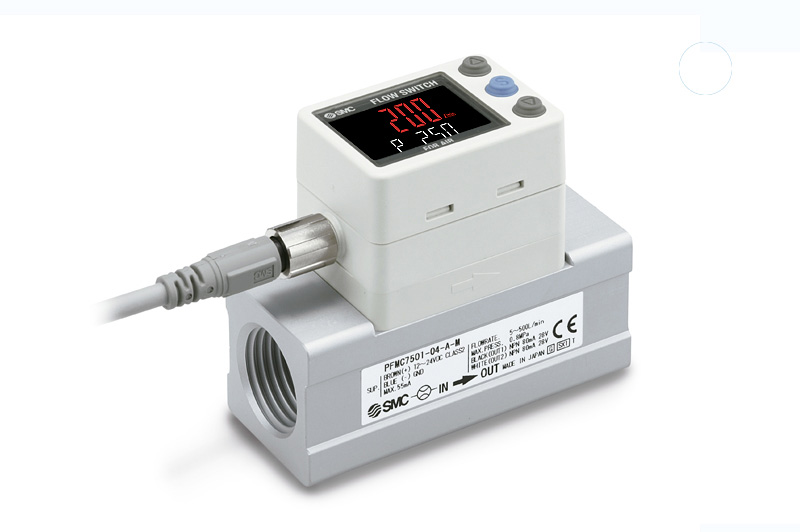 Digital flow switch for medium flow
