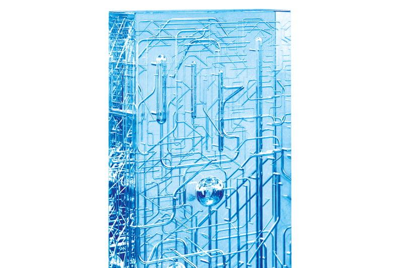 Ventilovy blok z akrylu