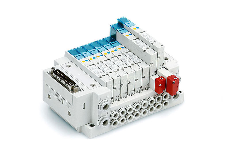 5 port solenoid valve plug-in type