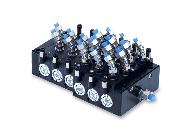 Vzduchem ovládany ventil pro vodu a základní chemikálie
