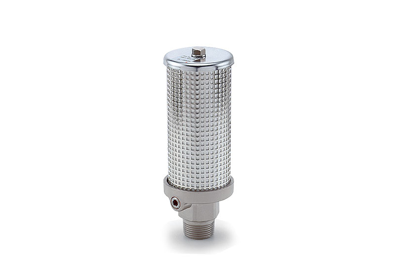 Silencer for high-pressure applications up to 50 bar