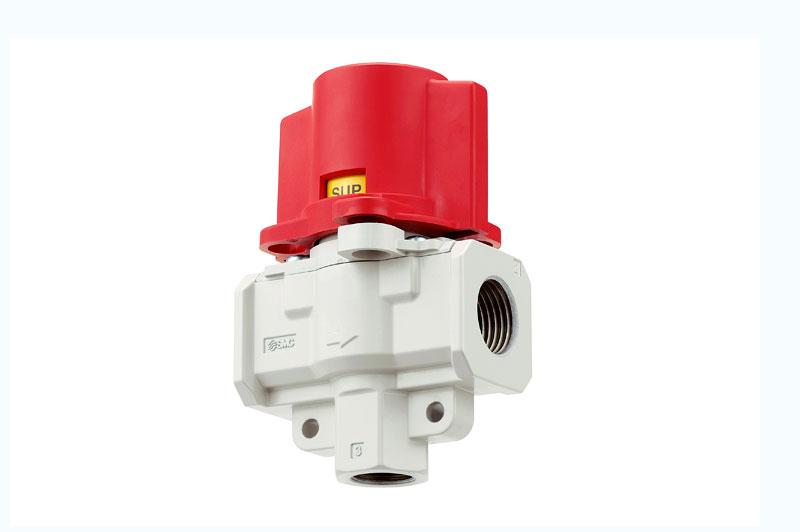 3-линейный клапан со сбросом давления, отверстия для блокировки