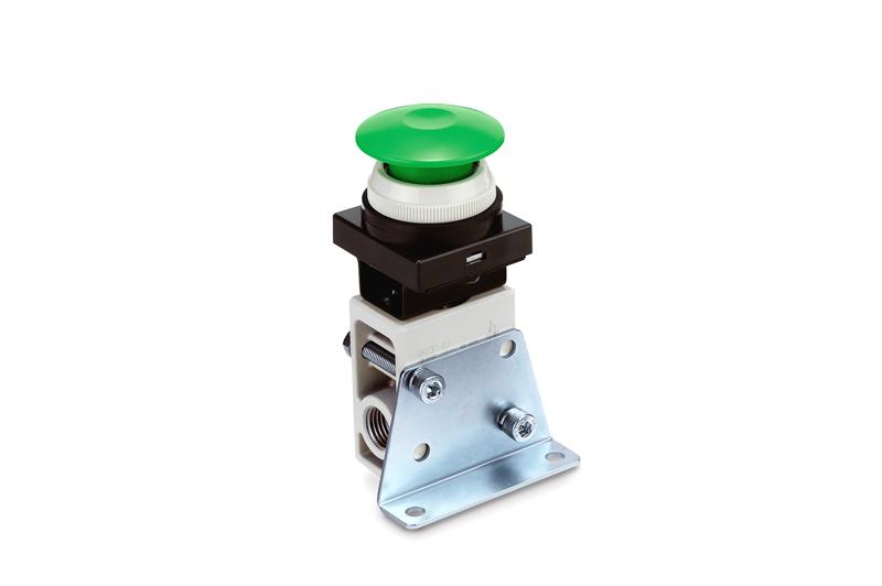 Mechanicky / ru?ně ovládany 2/2 a 3/2 ventil, miniaturní provedení