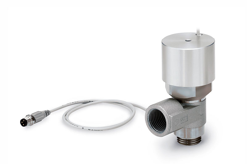 Pilot operated check valve with state detection