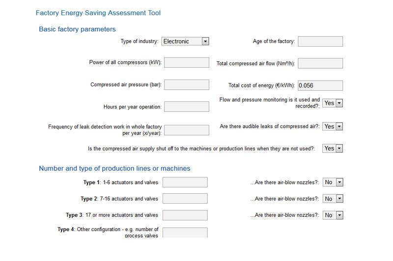 Factory assessment tool