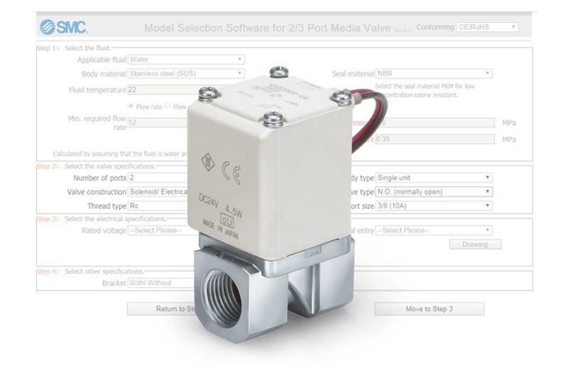 Software pro vyběr procesních ventil?