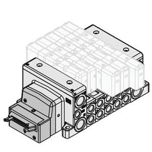 VV80*-PD, Manifold, ISO 15407-2, Flat Ribbon Cable
