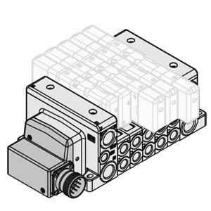 VV80*-MD, Mehrfachanschlussplatte, ISO 15407-2, Rundstecker