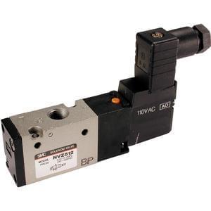 VZ500, Elektromagneticky ovládaný 3/2 ventil, se závity v tělese / montáž na základovou desku (metrický)