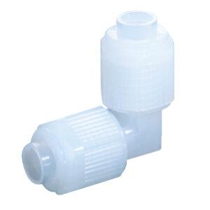LQ1E, Hochreiner Fluorpolymer-Anschluss, Schlauchanschluss, Winkelverbindung