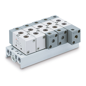 VV5F3, Mehrfachanschlussplatte, B-Montage (integriert), metrisch