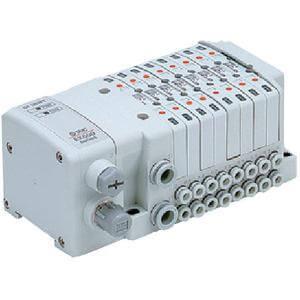 SS0750, Vícenásobná připojovací deska - skládaná, interní prodrátování, decentralizované sériové připojení řady EX500, provedení S