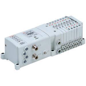 SS0750 Intern verdrahtete modulare Mehrfachanschlussplatte, Serielles Übermittlungssystem mit Ein- und Ausgangseinheit EX250, Set S