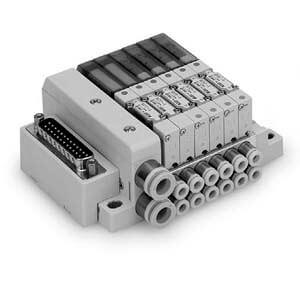 SS0751, Vícenásobná připojovací deska - hliníková, kompaktní provedení, interní prodrátování, D-sub konektor, provedení F