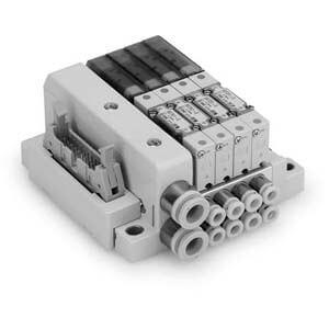SS0751 Flache und kompakte durchgehende Mehrfachanschlussplatte, Flachbandkabel, 20-polig, Set J