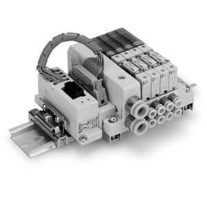 SS0751 Flache und kompakte durchgehende Mehrfachanschlussplatte, Gateway-System serielles Übermittlungssystem EX510, Set S
