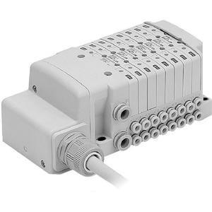 SS0750, Vícenásobná připojovací deska - skládaná, interní prodrátování, vodiče, provedení L