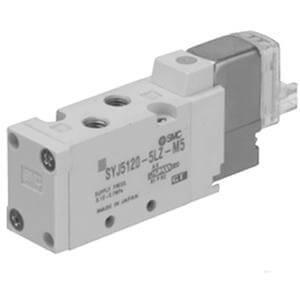 SYJ5000, Elektromagnetický nepřímo ovládaný 5/2 a 5/3 ventil, se závity v tělese / montáž na základovou desku