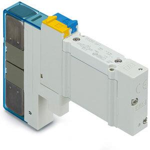 SY5000, Elektromagnetický nepřímo ovládaný 5/2 a 5/3 ventil, všechna provedení - Nová řada