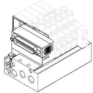SS5Y5-52, Serie 5000, D-Sub-Stecker, Flachbandkabel, PC-Anschluss (IP40)