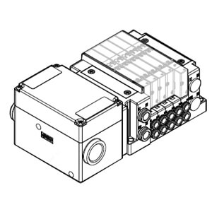 SS5Y3-10TC, 3000 Series Manifold, Terminal Block Box (IP67) Spring Type, Side Ported