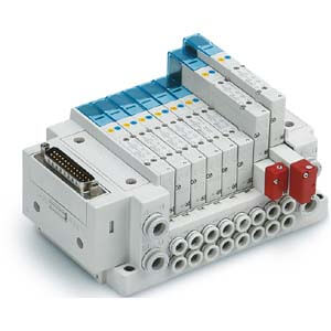 SS5Y3-10, 3000 Series Manifold, D-sub Connector, Flat Ribbon Cable, PC Wiring System (IP40), Side Ported