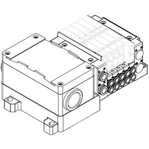 SS5Y5-10T, 5000 Series Manifold, Terminal Block Box (IP67), Side Ported