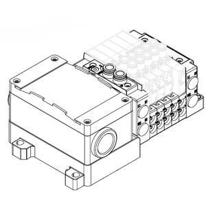 SS5Y3-12T, 3000 Series Manifold, Terminal Block Box (IP67), Top Ported