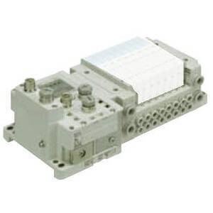 SS5Y5-10S6, 5000 Series Manifold for Series EX600 Integrated (I/O) Serial Transmission System (Fieldbus) (IP67), Side Ported