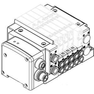 SS5Y5-10SA2, 5000 Series Manifold for Series EX500 Gateway Serial Transmission System (IP67), Side Ported