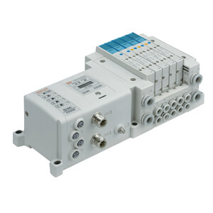 SS5Y3-10S, 3000 Series Manifold for Series EX250 Integrated (I/O) Serial Transmission System (IP67), Side Ported