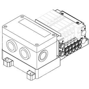 SS5Y3-10S4, 3000 Series Manifold for Series EX126 Integrated (Output) Serial Transmission System (IP67), Side Ported
