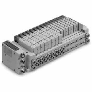 SS5Y3-10SN, 3000 Series Manifold for Series EX260 Integrated Type (For Output) Serial Transmission System (IP67), Side Ported