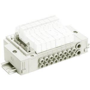 SS5Y3-45G, řada 3000, Vícenásobná připojovací deska - skládaná, montáž na DIN lištu, konektor pro plochý kabel (jako PC)