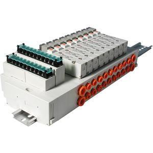 SS5Y5-45T- Serie 5000 Mehrfachanschlussplatte Kassettenversion, DIN-Schienen-Montage, Klemmenleiste