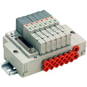 SS5X3-45*F, Řada 3000, Vícenásobná připojovací deska - skládaná, D-sub konektor