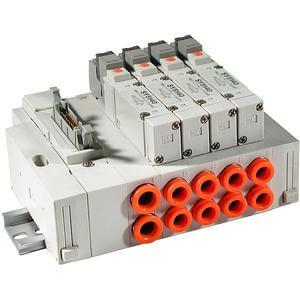 SS5X5-45P, Řada 5000, Vícenásobná připojovací deska - skládaná, konektor pro plochý kabel