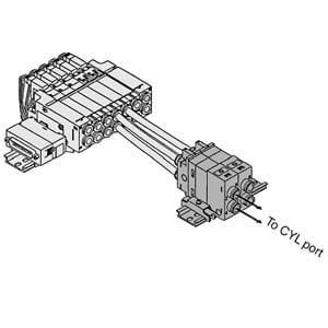 VVQ2000-FPG, Entsperrbares Doppelrückschlagventil für VQ(C/Z)2000/3000, Mehrfachanschlussplatte