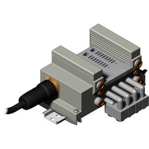 VV5Q21-M, 2000 Series, Base Mounted Manifold, Plug-in, Multi-connector