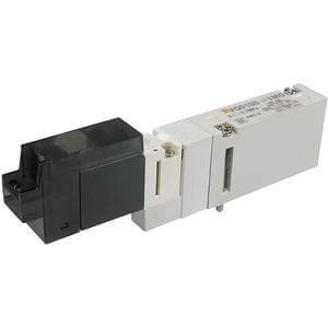VQ0*5*, Řada 0000, Elektromagnetický nepřímo ovládaný 5/2 a 5/3 ventil, montáž na základovou desku