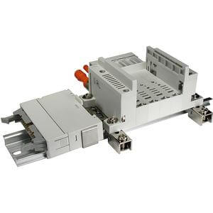 VV5Q05-P, Serie 0000 Mehrfachanschlussplatte, Flanschversion, Flachbandkabel