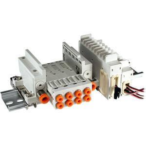 VV5Q05-T, Serie 0000 Mehrfachanschlussplatte, mit externer Verdrahtung, Klemmenleiste