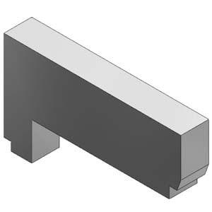 VVQ1000-10A-1, Blindplatteneinheit für VQ(C)1000, Flanschversion