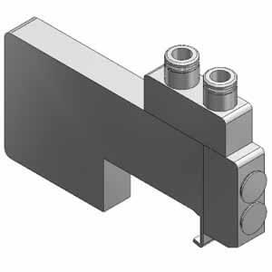 SSQ1000-PR1-4, Mezikus pro individuální přívod vzduchu / odvzdušnění, pro SQ1000, individuální elektrické připojení