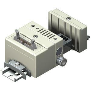 SS5Q14-J, řada 1000,  Vícenásobná připojovací deska - individuální elektrické připojení, konektor pro plochý kabel (20 kolíků)