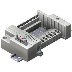 SS5Q13-P, Serie 1000 Mehrfachanschlussplatte mit interner Verdrahtung, Flachbandkabelanschluss-Set