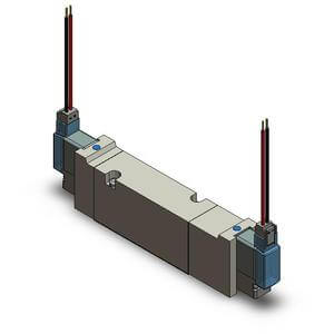 VQZ**5*, Serie 1000/2000/3000, 5/2-, 5/3-, 3/2-Wege-Elektromagnetventil, Flanschversion