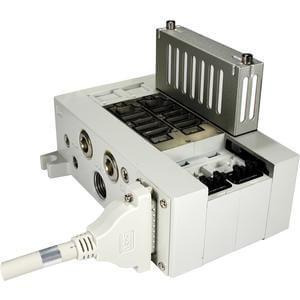 VV5Q41-F_CU, řada 4000, Vícenásobná připojovací deska - interní prodrátování, D-sub konektor, s řídicí jednotkou (filtr / regulátor tlaku / tlakový snímač,...)