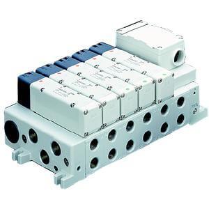 VV5Q41-T, Serie 4000 Mehrfachanschlussplatte mit interner Verdrahtung, Flanschversion, Anschlussbox
