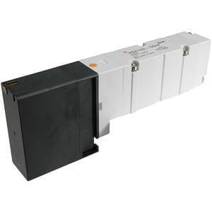 VQ4*5*, Serie 4000, 5/2-, 5/3-Wege-Elekromagnetventil, mit externer Verdrahtung, Flanschversion (neue Version)